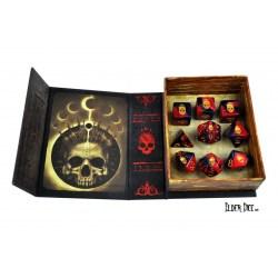 Комплект D&D зарове: Elder Dicе Mark of the Necronomicon - Red and Inky Black Polyhedral Set в D&D и други RPG / D&D Зарове