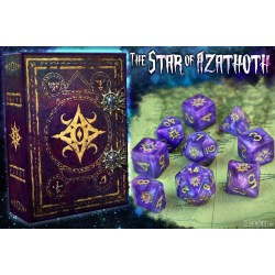 Комплект D&D зарове: Elder Dice Star of Azathoth - Nebula Polyhedral Set в D&D и други RPG / D&D Зарове