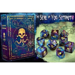 Комплект D&D зарове: Elder Dice - The Seal of Yog-Sothoth Nebula Polyhedral Set в D&D и други RPG / D&D Зарове