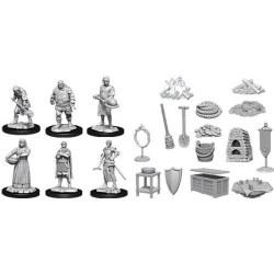 WizKids Deep Cuts Unpainted Miniatures - Castle: Kingdom Retainers