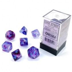 Комплект D&D зарове: Chessex Luminary Nebula Nocturnal & Blue (светещи) в Зарове за игри