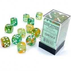 Комплект D6 зарове: Chessex 36 D6 Dice Set - Luminary Nebula Spring & White (светещи) в Аксесоари / Зарове за игри