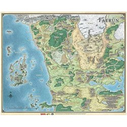 "Dungeons & Dragons RPG 5th Edition: D&D Savage Frontier Map (21""x31"") в D&D и други RPG / D&D / Pathfinder терен"