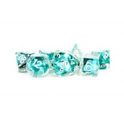 Polyhedral 7-Die Set: Metallic Dice Games - Mermaid Scales in D&D Dice Sets