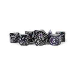 Polyhedral 7-Die Set: Metallic Dice Games - Framed Void in D&D Dice Sets