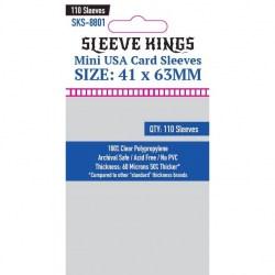 Протектори за карти Sleeve Kings Mini USA Card Sleeves (41x63mm) 110 Pack, 60 Microns в Chimera Size (41x63, 43x65 мм)
