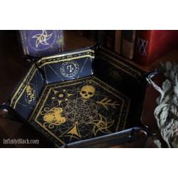 Elder Dice: Hexagon Folding Dice Tray - Gold on Black в Други аксесоари
