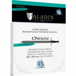 Paladin Sleeves - Owain Premium Large Square (80x80mm) 55 Pack, 90 Microns in Other Sleeves