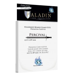 Paladin Sleeves - Percival Premium Standard Board Game/CCG (63.5x89mm) 55 Pack, 90 Microns in Standard Size (Magic, LCG игри и др., 63.5x88мм размер на картите)