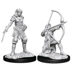 WizKids Pathfinder Battles Deep Cuts Unpainted Miniatures: Wave 15 Female Human Fighter в D&D и други RPG / D&D Миниатюри