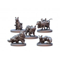 Animal Adventures RPG - Cats of Gullet Cove Miniature Set (2021) в D&D и други RPG / Други RPG