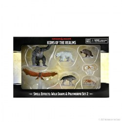 Dungeons & Dragons Fantasy Miniatures: Icons of the Realms Spell Effects - Wild Shape and Polymorph Set 2 в D&D и други RPG / D&D Миниатюри