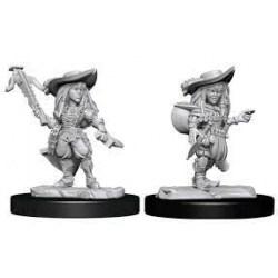 WizKids Pathfinder Battles Deep Cuts Unpainted Miniatures: Wave 15 Female Gnome Bard в D&D и други RPG / D&D Миниатюри