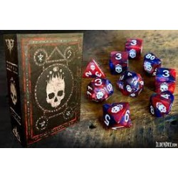 Elder Dice: Mark of the Necronomicon - Bone White on Blood and Magick Polyhedral Set в Зарове за игри