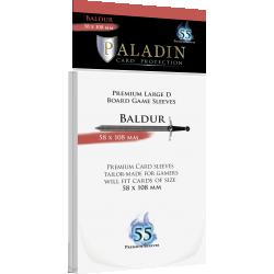 Протектори за карти Paladin Sleeves - Baldur Premium Large D (58x108mm) 55 Pack, 90 Microns в Други размери