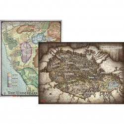 "Dungeons & Dragons RPG 5th Edition: D&D Out of the Abyss Map Set (23""x16"", 20""x16"") в D&D и други RPG / D&D / Pathfinder терен"