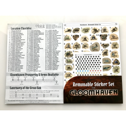 Gloomhaven: Jaws of the Lion Removable Sticker Sheet & Map - стикери от винил за многократна употреба