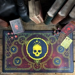 Infinite Black: Mark of the Necronomicon Premium Stitched Playmat (59x36cm) в Аксесоари