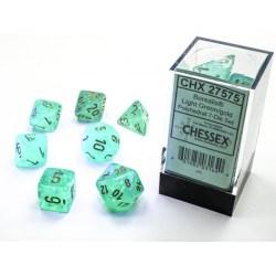 Комплект D&D зарове: Chessex Luminary Borealis Light Green & Gold (светещи) в D&D и други RPG / D&D Зарове