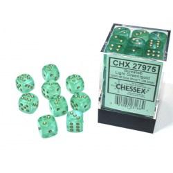Комплект D&D зарове: Chessex Luminary Light Green & Gold (светещи) в Зарове за игри