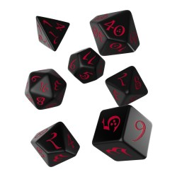 Комплект D&D зарове: Polyhedral 7-Die Set: Q-Workshop Classic RPG (Black and Red) в Зарове за игри