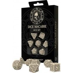 Polyhedral 7-Die Set: Q-Workshop Dice Macabre in D&D Dice Sets