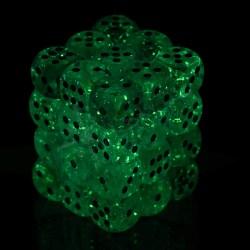 Комплект D6 зарове: Chessex Luminary Glow Teal & Gold 36 броя 12mm (светещи) в Зарове за игри