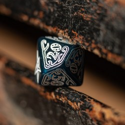 Комплект зарове: Call of Cthulhu - Abyssal & White Polyhedral 7 Dice Set в D&D и други RPG / D&D Зарове