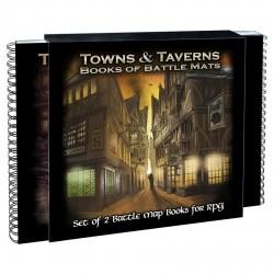 "Loke Battle Mats: Towns and Taverns Books of Battle Mats (2x 12x12"" books, 40 pages each) в D&D и други RPG / D&D / Pathfinder терен"
