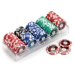 Piatnik High Gloss Poker Chips (100) in Sleeves & Accessories