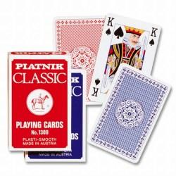 Piatnik Plastic Covered Classic Poker Deck - Red в Карти за игра