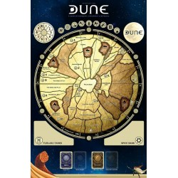 "(Pre-order) Dune Board Game Gamemat 36x24"" + Special Edition Miniatures"