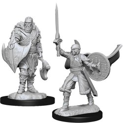 Magic: The Gathering Unpainted Miniatures: Wave 14 Kaldheim Human Berserkers в D&D и други RPG / D&D Миниатюри