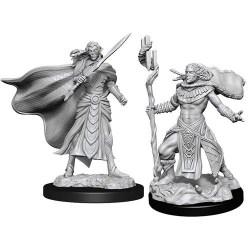 Magic: The Gathering Unpainted Miniatures: Wave 14 Elf Female Fighter & Elf Male Cleric в D&D и други RPG / D&D Миниатюри