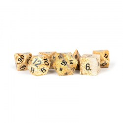 Metallic Dice Games: Picture Jasper Full-Sized 16mm Polyhedral Dice Set в D&D и други RPG / D&D Зарове