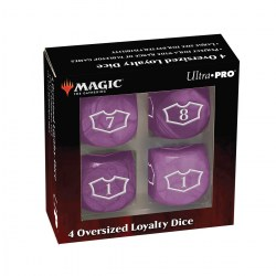 Ultra Pro Magic: The Gathering Oversized Loyalty Dice (4) - Swamp in Sleeves & Accessories