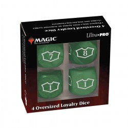 Ultra Pro Magic: The Gathering Oversized Loyalty Dice (4) - Forest in Sleeves & Accessories
