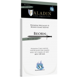 Paladin Sleeves - Beorn Specialist D (68x120mm) 55 Pack, 90 Microns in Other Sleeves