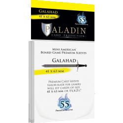 Протектори за карти Paladin Sleeves - Galahad Mini American (41x63mm) 55 Pack, 90 Microns in Mini American Board Game Size (41x63мм, 43x65мм)