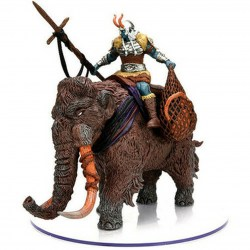 Dungeons & Dragons Fantasy Miniatures: Icons of the Realms - Rage of Demons - Snowbound Frost Giant and Mammoth Premium Set in D&D Miniatures
