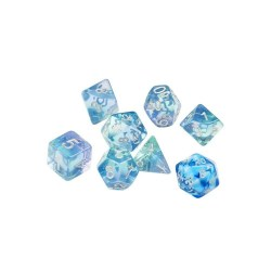 Sirius Dice: Emerald Waters Polyhedral 7 Dice Set  (+ additional D20) in D&D Dice Sets