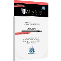Paladin Sleeves - Lucius Premium large B (76x102mm) 55 Pack, 90 Microns in Other Sleeves