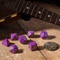 Комплект D&D зарове: Q-Workshop The Witcher Dandelion -  Viscount de Lettenhove (Purple & Gold) в D&D и други RPG / D&D Зарове