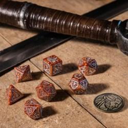 Комплект D&D зарове: Q-Workshop The Witcher Geralt - The Monster Slayer (Caramel & Silver) в D&D и други RPG / D&D Зарове