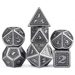 Комплект D&D зарове: Metal & Enamel 7 Dice Set: Knight в D&D и други RPG / D&D Зарове