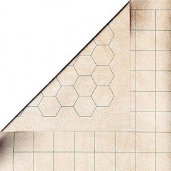 Chessex Double-Sided Battlemat Square&Hex 60x66cm (23.5x26-inch) RPG Playmat with Bigger Squares and Hexes (3,8cm/1.5-inch) in D&D Cards & Accessories