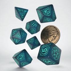 Комплект D&D зарове: Q-Workshop The Witcher Yennefer - Sorceress Supreme (Night Sky & Turquoise) в D&D и други RPG / D&D Зарове
