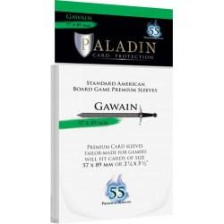 Paladin Sleeves - Gawain Standard American (57x89mm) 55 Pack, 90 Microns in Standard American Board Games (56x87мм)