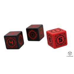 The Expanse RPG: Martian Dice Set (6) in Dice sets