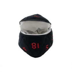 Ultra Pro: Dungeons & Dragons D20 Plush Dice Bag (Black & Red) in Other accessories